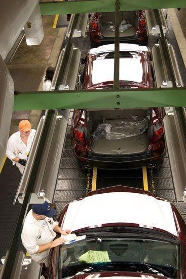 Honda manufacturing plant in Marysville.