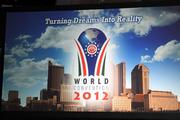 The logo for Honda's NH-Circle World Bloc Convention being held in Columbus and Marysville.