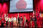 Workers from Japan are introduced to Honda employees at the company's NH-Circle World Bloc Convention, which started Tuesday in Columbus.