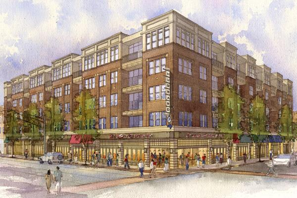Now renamed 'The Hub', the project at 830 N. High St. is expected to open next summer.