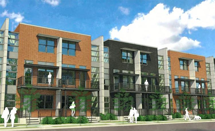 Look at the preliminary designs for townhouses being planned by Wagenbrenner Development for Jeffrey Place.