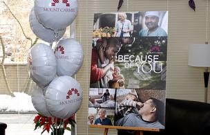 "Mount Carmel debuted its ""Because of you"" ad campaign Monday. It highlighted the new ads in launch parties with hospital personnel."
