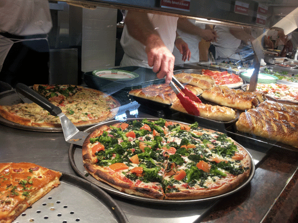 Sbarro LLC showed off its new menu and operations on Thursday at the Mall at Tuttle Crossing.