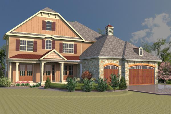 A rendering shows Truberry Custom Homes' planned BIA Foundation house that will be sold for charity at this year's Parade of Homes.