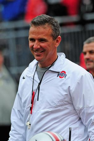Ohio State is suing to protect its trademarks, including the likeness of coach Urban Meyer.