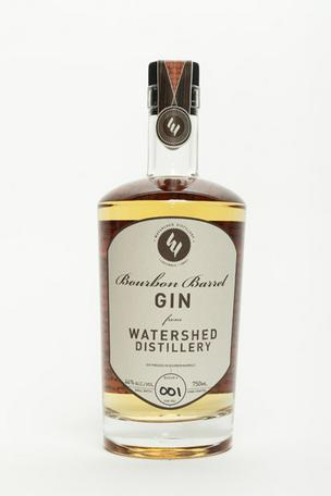 Watershed Distillery is launching its Bourbon Barrel Gin, made by aging their Four Peel Gin in bourbon barrels for nine to 12 month. Click the next image to see the distillery.