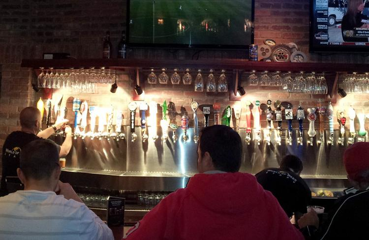 Fifty beers on tap are a hallmark of the World of Beer operation in Easton.