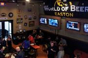 Inside the World of Beer pub at Easton Town Center, TVs keep patrons up to date and entertained.