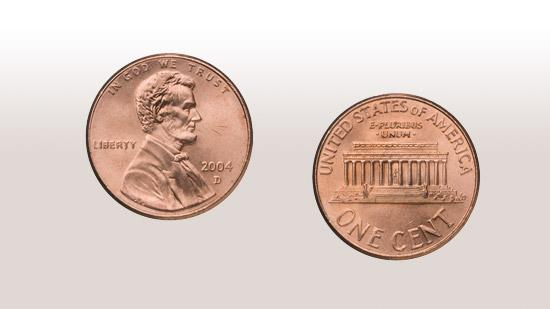 PennyFace value: 1 centCost to make: 1.79 cents