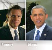 A Page 1 story details the local presidential campaign spending for advertisements between Republican candidate Mitt Romney and President Barack Obama.