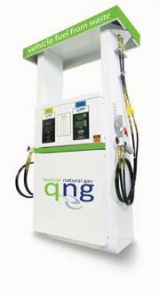 The compressed natural gas fueling station would serve vehicles retooled to run on the green energy source.