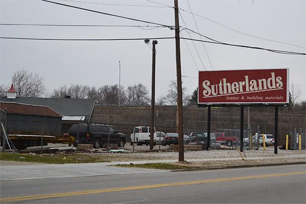 The Sutherlands Lumber Co. location at 575 N. Nelson Road is closing.