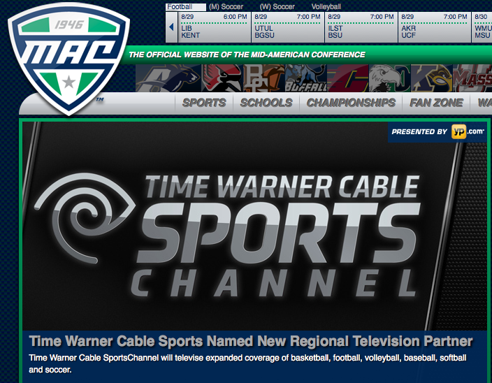 Mid American Conference Sports Going To Time Warner Cable After