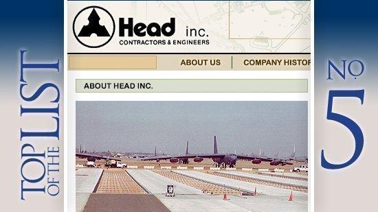 No. 5: Head Inc.Based: Columbus.  2010 contract value: $37.9 million.
