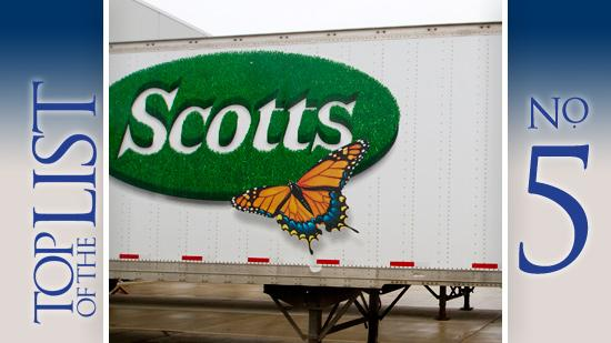 5. Scotts Miracle-Gro Co. (NYSE:SMG) Based: Marysville Five-year profit growth: 103 percent.
