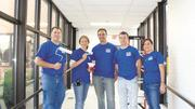 Park National Bank employees cleaned and painted at the Licking County Family YMCA in Newark in October.
