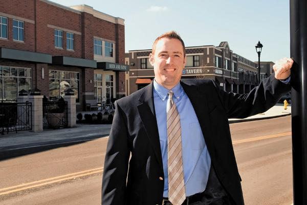 Upper Arlington planning official Chad Gibson, above, says development in the largely built-out suburb is by necessity focused on redevelopment opportunities such as the redone Kingsdale Shopping Center.