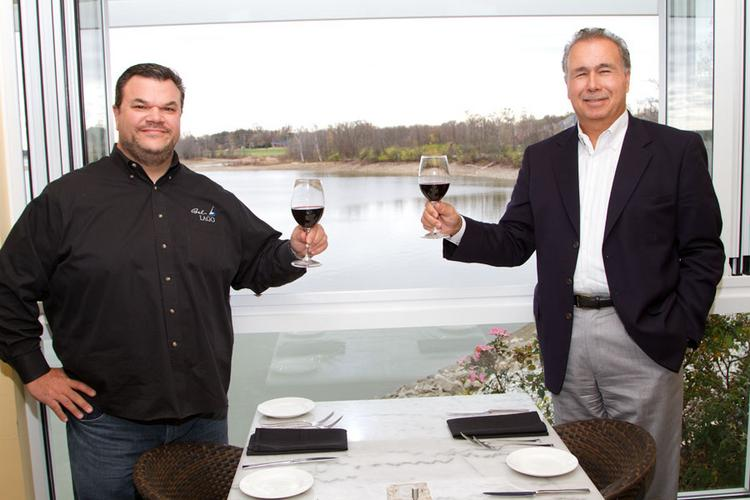 Rich Rores, left, and Dave Bianconi have made several tweaks to improve the operating and financial performance of Bel Lago restaurant in Westerville.