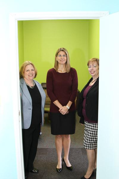 Sharon DeLay, left, Caroline Worley, middle, and Mary McCarthy collaborated to open the Women's Small Business Accelerator for business owners in the Columbus area.