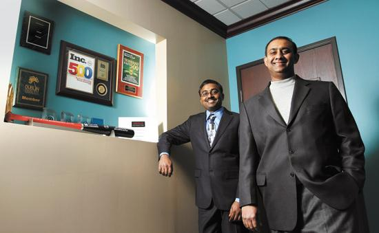 ERP Analysts Partners Srikanth Gaddam, right, and Kiran Beeravelli say they know what it's like to be mistreated by a boss. They run things differently.