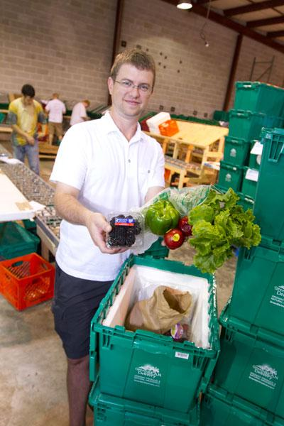 John Freeland, vice president of Green Bean Delivery LLC, said Columbus-area customers are catching on to his company's grocery delivery service, which focuses on items from local farms and food producers.