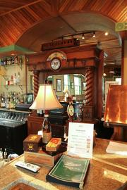 Barry's Grill and Pub at Golf Depot is set in a 112-year-old restored train depot relocated from Prospect, north of Columbus.