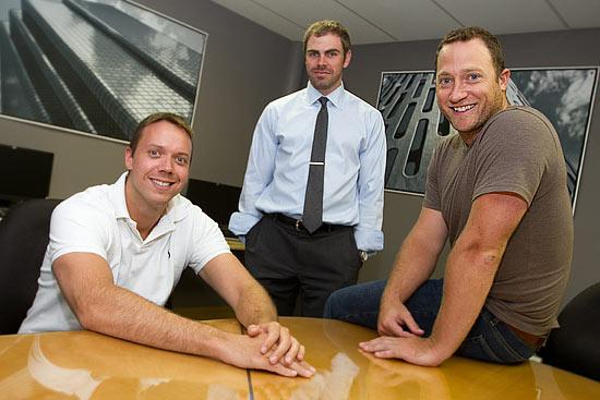 Zipline Logistics partners, from left, Andrew Lynch, Edward Williams and John Rodeheffer plan to add employees as the firm expands in a new location.