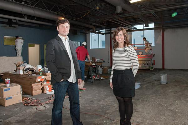 Justin Spring and Danielle Walton's marketing data software, BringShare, has taken off so well that the two are moving their company to new offices.