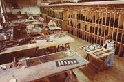 The Franklin Art Glass studio on Sycamore Street as it looked in the 1970s.