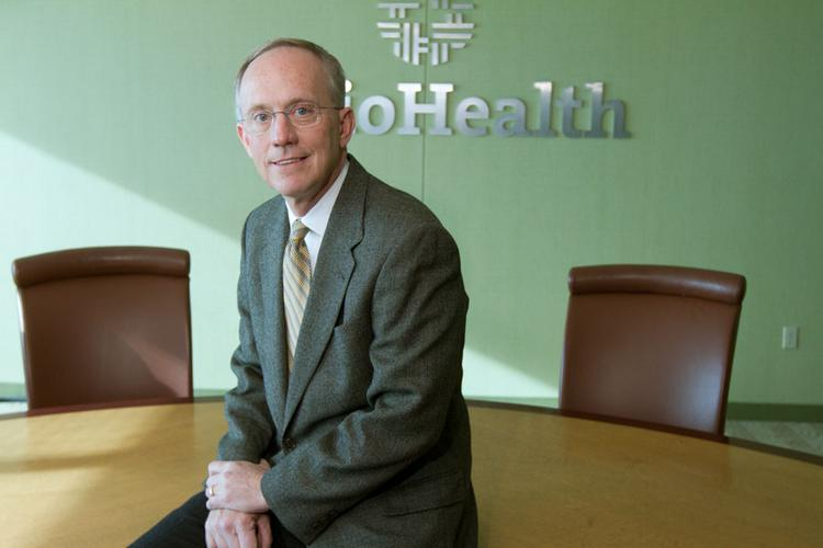 "Dave Blom took OhioHealth to new heights in 2012. Of the accomplishments, he credits those with whom he works. ""If you're all working toward the same goal passionately,"" he said, ""you get good results."""