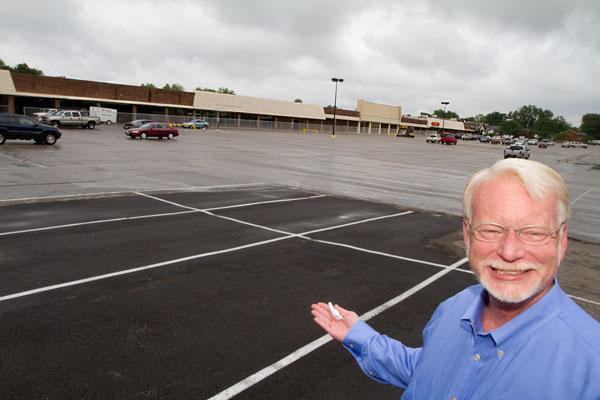 George Hadler is redeveloping Westerville Square Shopping Center. It's a $16 million project that will include a scaled-down Walmart in space previously occupied by a Lazarus department store, Big Bear and a Buckeye Mart discount store.