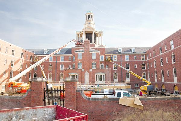 The $27 million renovation of Ohio Wesleyan's Stuyvesant Hall includes restoring the building's bell tower and chimes.