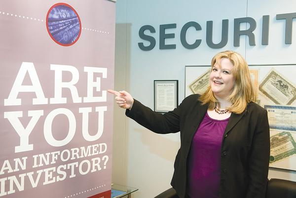 Shannon Himes with Ohio's securities division travels the state to warn about investment fraud.