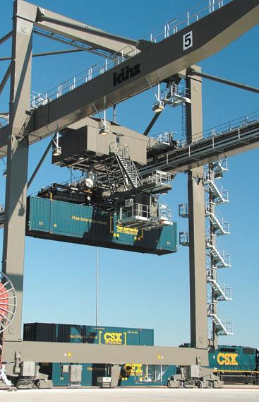 CSX Corp. added an intermodal yard to its rail system in North Baltimore this year.