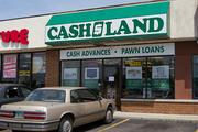 Demand is high for pawn and payday loans, says the manager of this Cash America operation on Cleveland Avenue in Columbus. The store goes by the name Cashland Market.