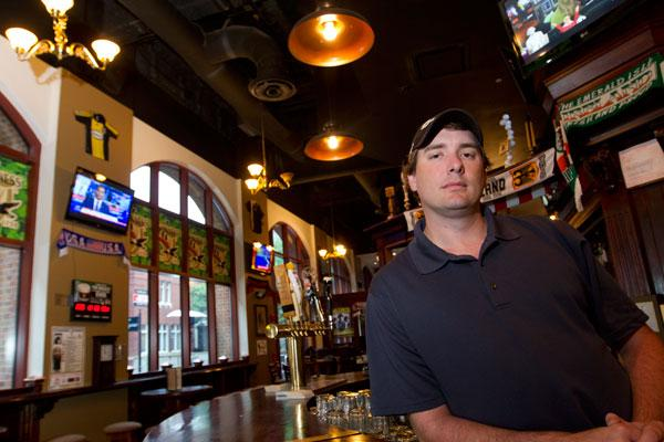 Mike Darr and his partners doubled down in the Arena District by turning the former O'Shaughnessy's space into the Three-Legged Mare. They also own the R Bar nearby and rely on hockey nights to boost business.