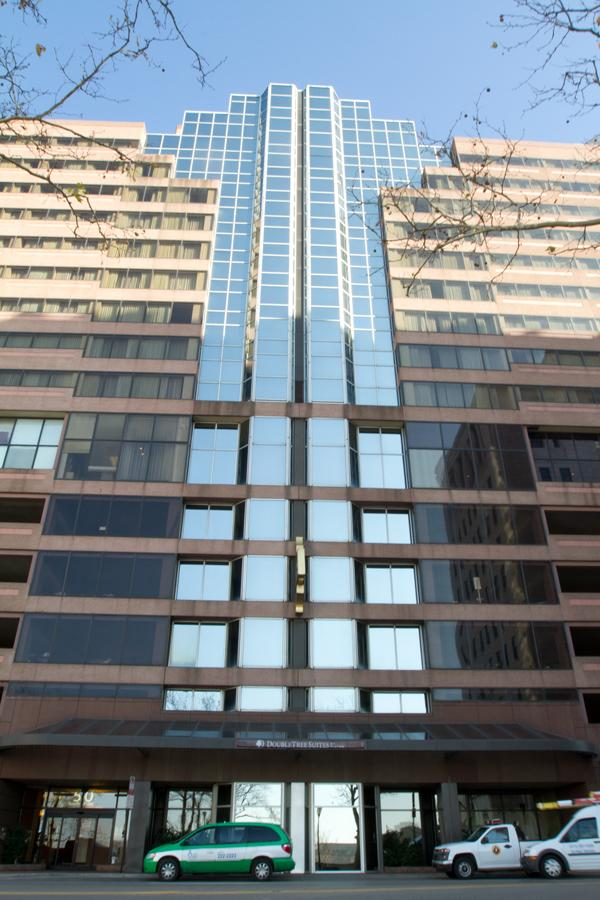 The DoubleTree Suites downtown is under new ownership with up to $6 million in renovations planned.