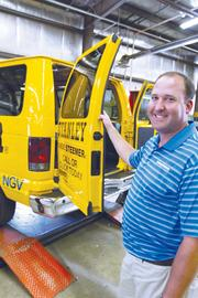 Stanley Steemer R&D Director Sean Vrenna is leading a test of CNG vans for the nationwide carpet-cleaning business.