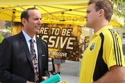 MLS Commissioner Don Garber wants more fans to come see Chad Marshall and his Crew teammates play in Columbus.