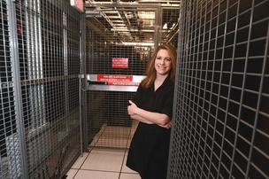 Security is among the chief selling points at DataCenter.bz's facilities, says the company's Kim Gerhart.