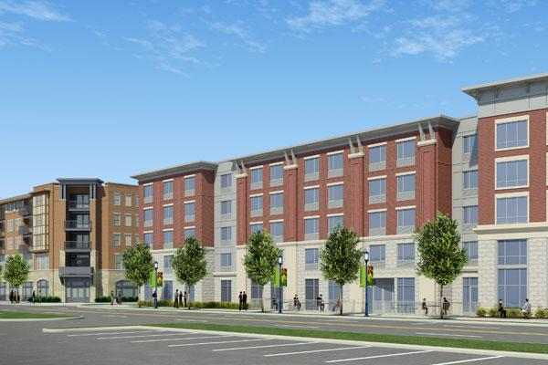 Homewood Suites, with 109 units, now is planned for Lane Avenue in Upper Arlington. Offices and apartments, left, are on tap for the neighboring Lane Avenue Baptist Church site.