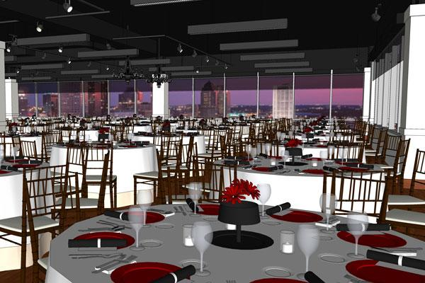 Cameron Mitchell Catering will move into the Ivory Room in Miranova in downtown Columbus.