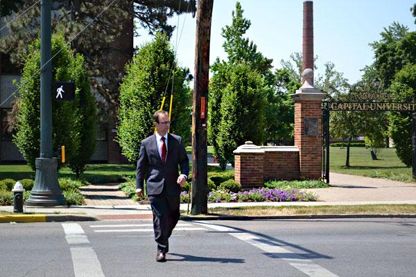 Bexley Mayor Ben Kessler is working with Capital University on plans for Main Street, which runs in front of the school's campus and library.