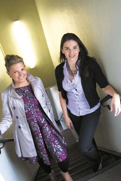 Candace Klein, left, teamed up with Michelle Galligan to bring her Bad Girl Ventures training and microlending organization to Columbus.