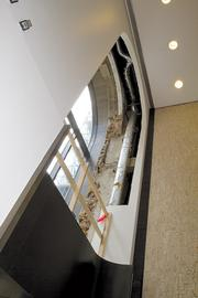 Archways in the lobby facing Broad Street were exposed by restorers to reveal how they originally were built.