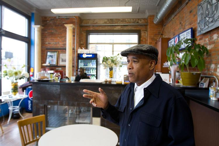 James Mason is confident he can make his coffee shop and cafe at 893 E. Long St. work, despite disruptions caused by highway-related construction that's impeding access to the area.