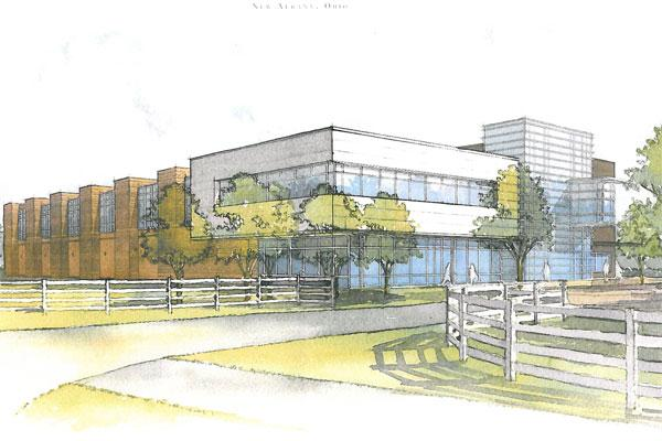 The New Albany Planning Commission is set to consider a proposal for a new R&D facility in the New Albany Business Park by an unidentified pharmaceuticals maker.