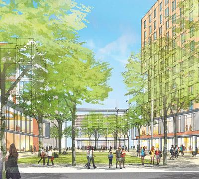 OSU envisions many more students living at the corner of Lane and High.