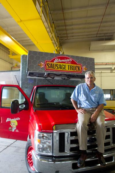 Andrew Schmidt has added the Schmidt's Sausage Truck to the historic restaurant's catering operation. He'd like to replicate the food truck in other markets.