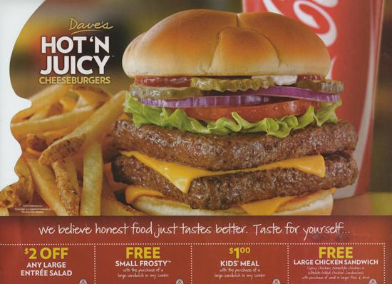 Wendy's diners can expect to see more coupons like this direct-mail ad sent out in Central Ohio.